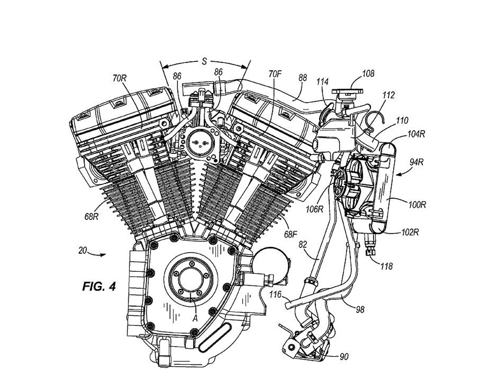 harley davidson water cooled engine us patent concept spy shots 2011 harley davidson water cooled engine us patent