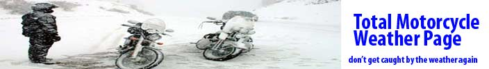 Keep up with the weather this year with Total Motorcycle Weather!