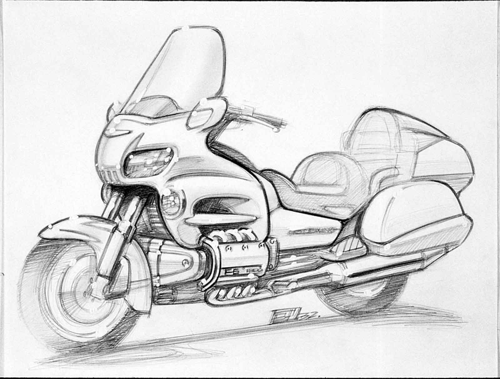 Honda-2001-Gold-Wing-concept-sketch-B