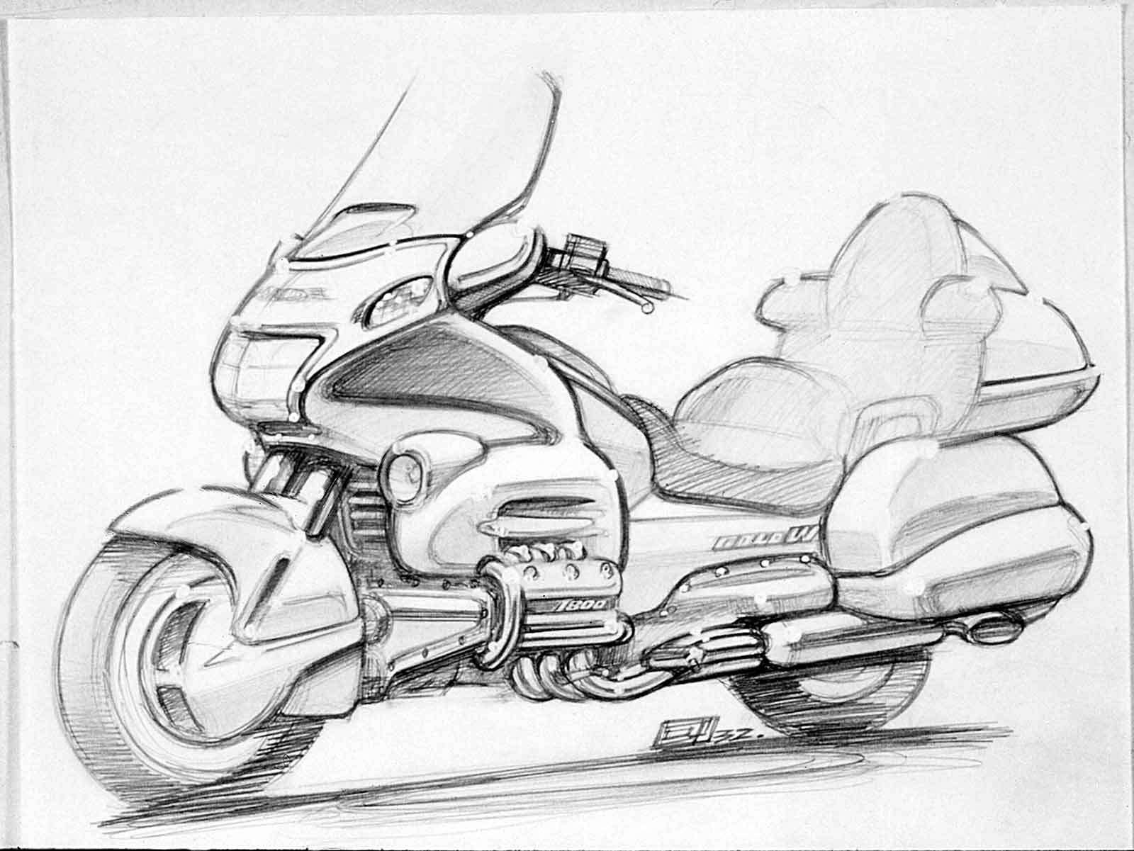 Honda-2001-Gold-Wing-concept-sketch-D