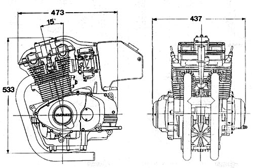 Parallel Twin - Inline 2 cylinder engine
