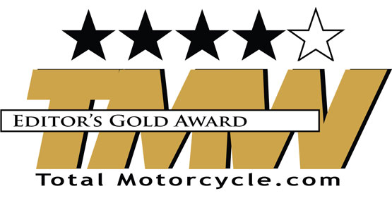Total Motorcycle Editor's Gold Award