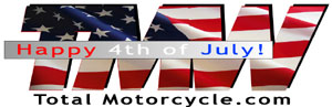 Total Motorcycle 4th of July Logo
