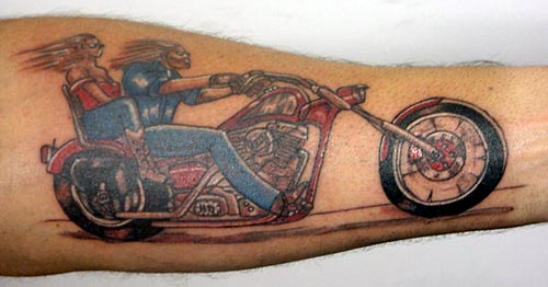 on dirt bike wheel tattoo. Tats or Toos - Tattoos