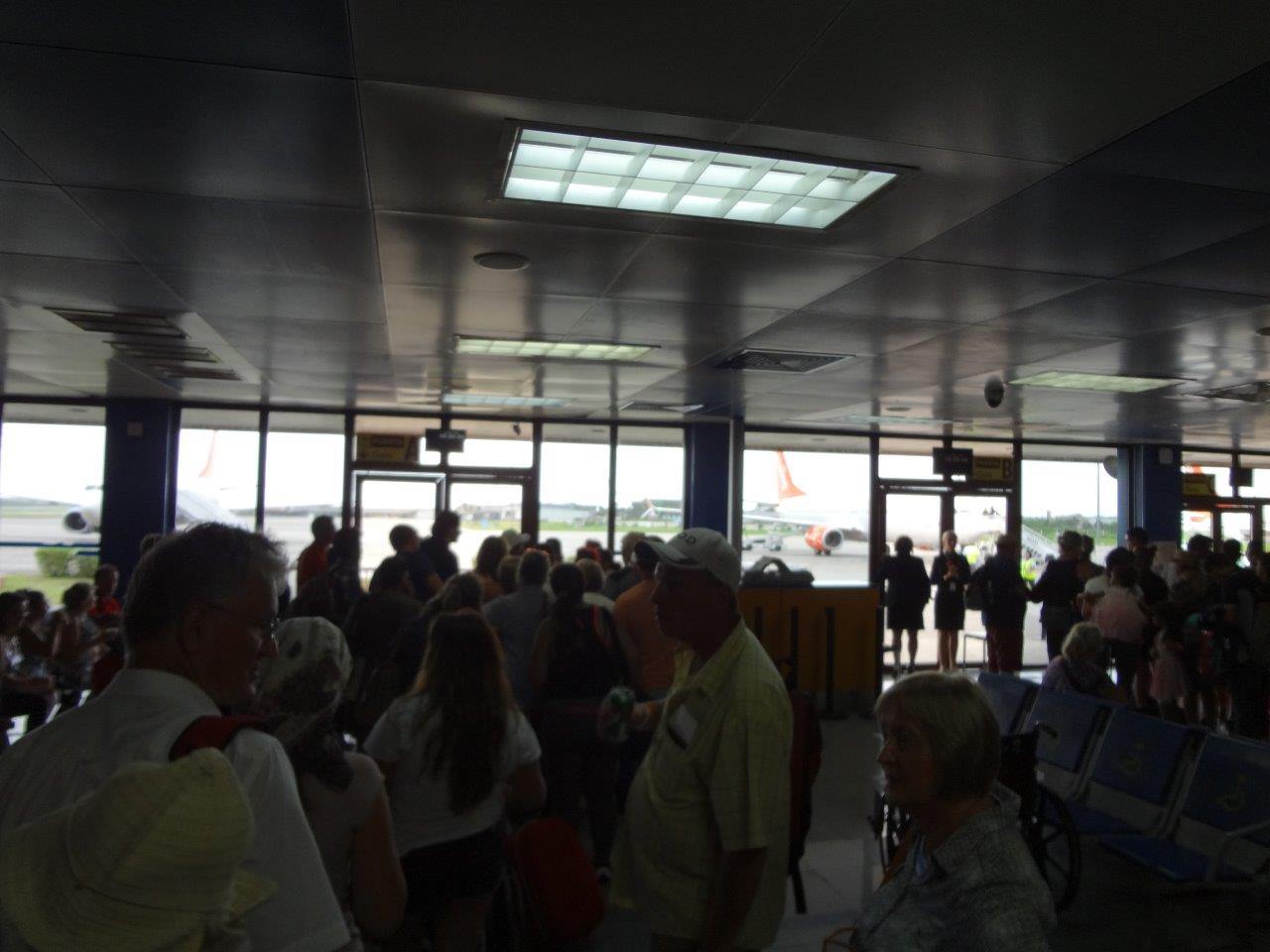 Havana Airport Waiting to get into the evacuation aircraft