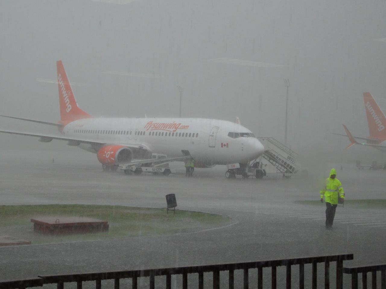 Irma band of torrential rain at Havana airport