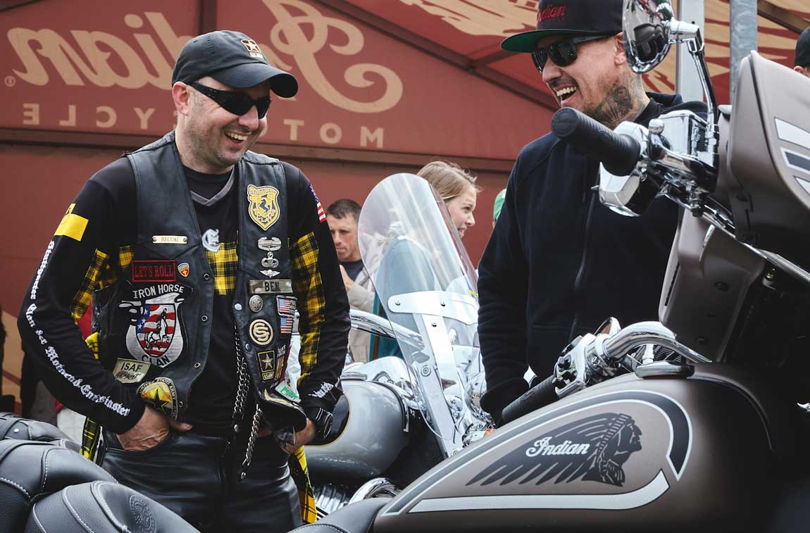 Good Ride with Indian Motorcycle, Carey Hart, BBQs, Live Music takes on Germany