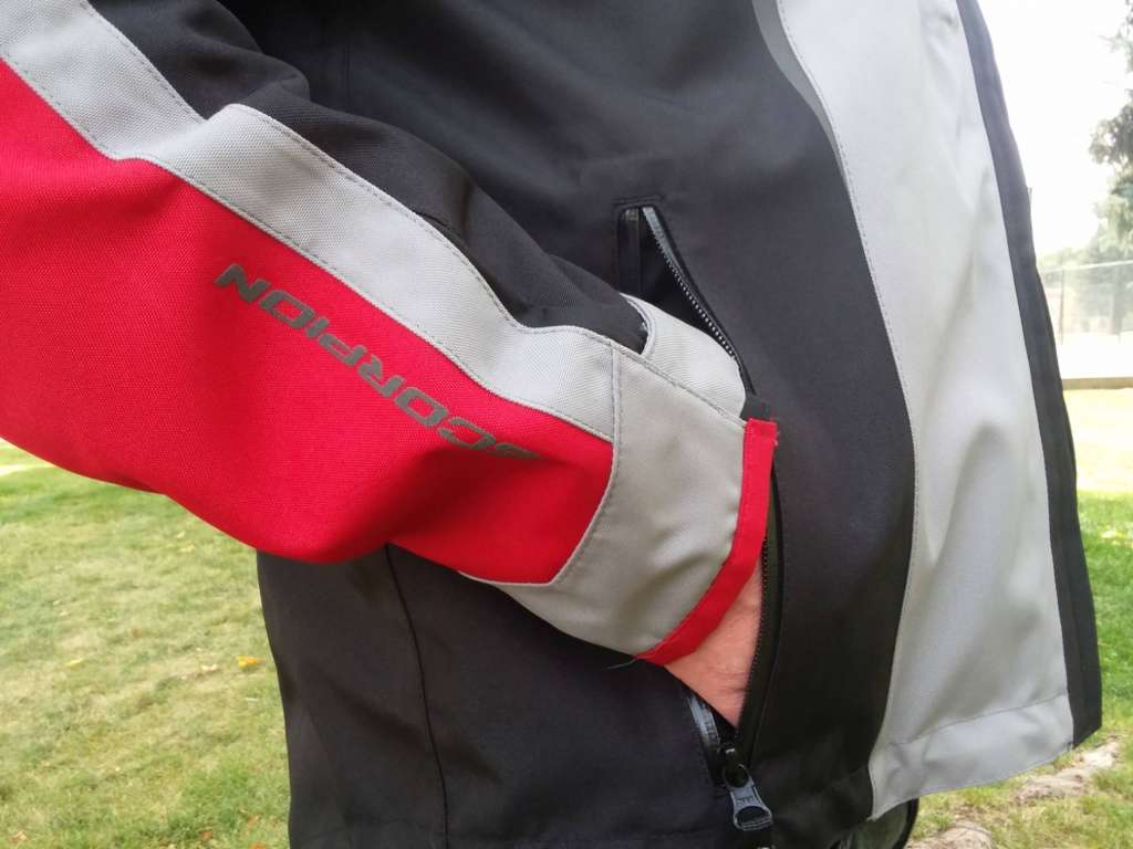 Right hand belly pocket of the Optima Jacket