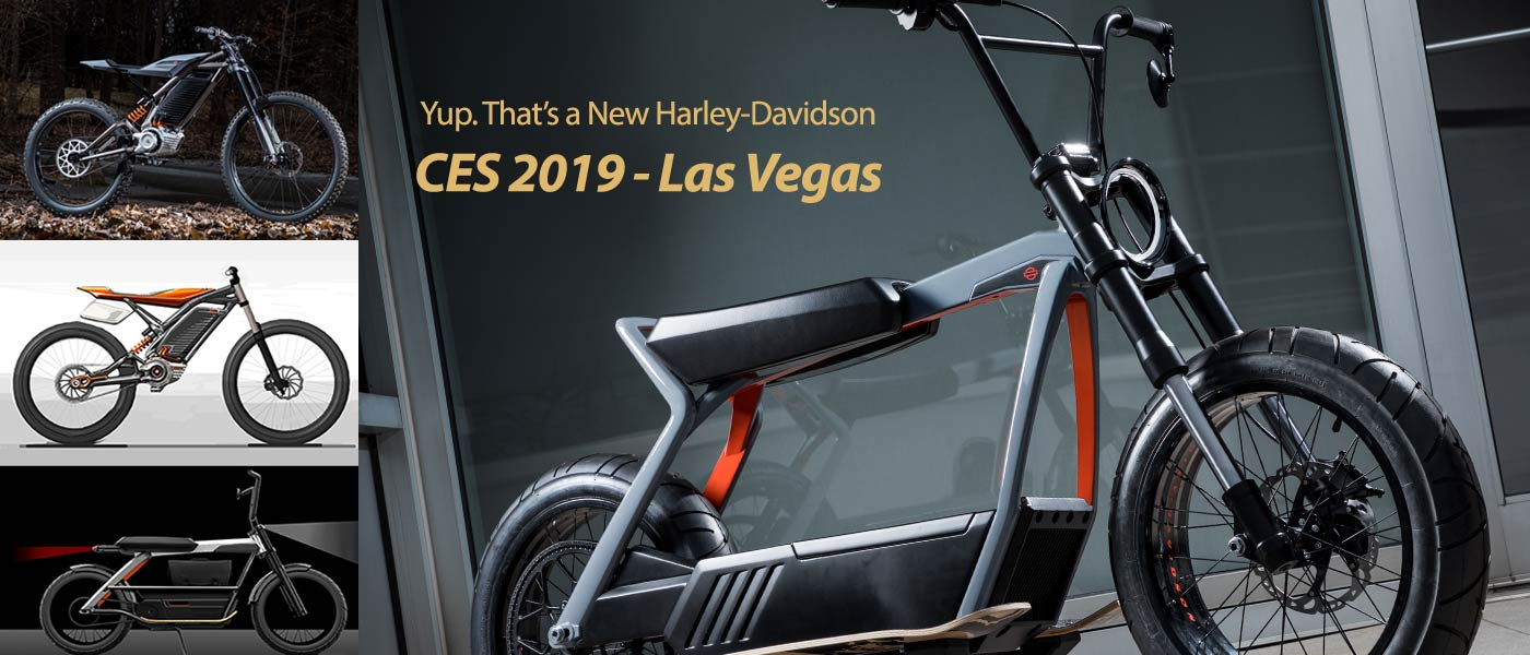CES 2019: HARLEY-DAVIDSON NEW CONCEPTS AND LIVEWIRE MOTORCYCLE