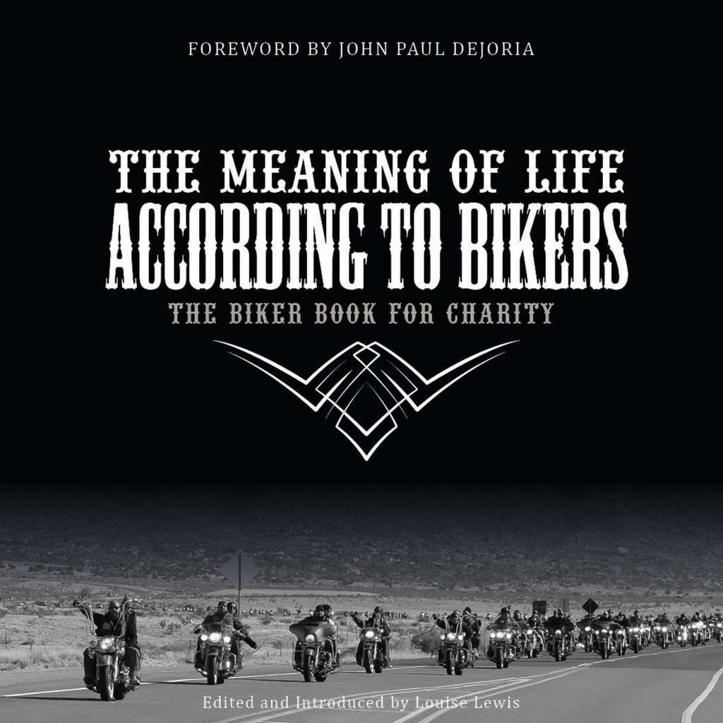Cover image - dozens of motorcycles riding two abreast on a desert highway.