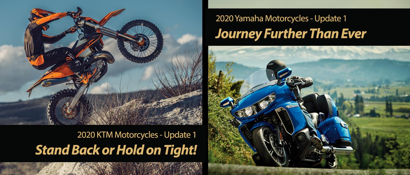 New 2020 Yamaha and 2020 KTM Motorcycles - Two-fer One