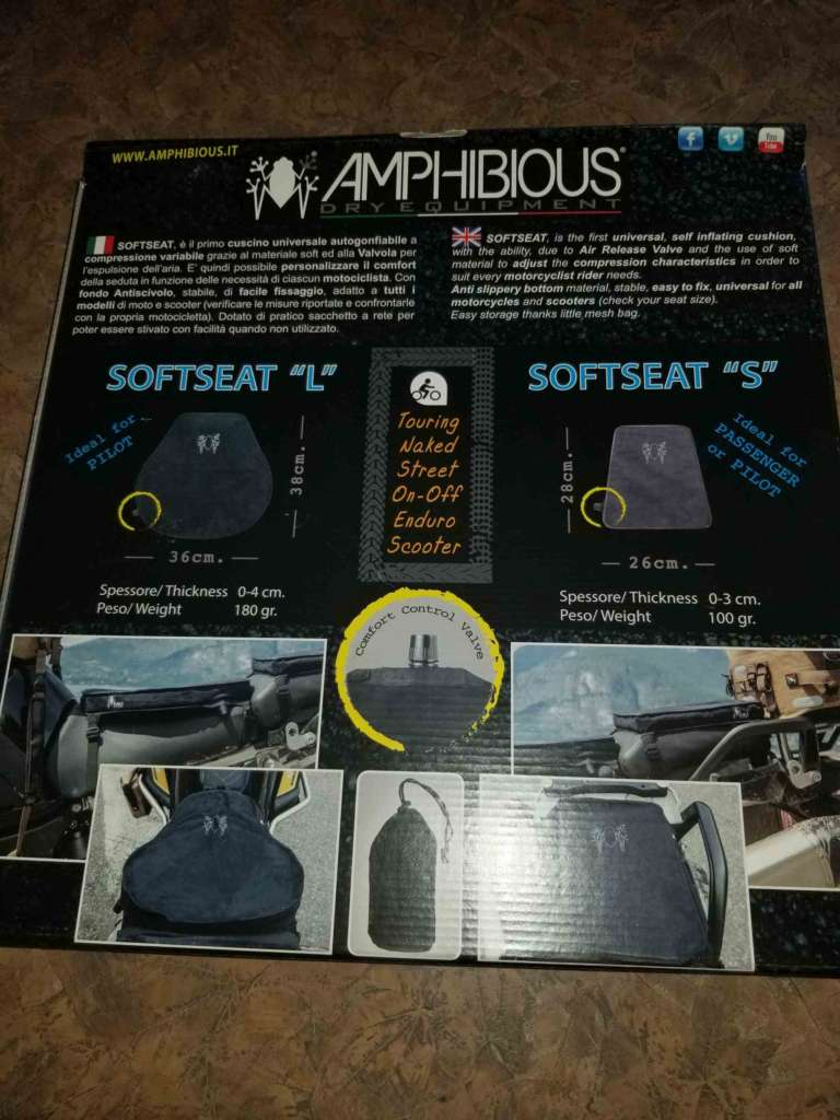 The back side of the Amphibious Soft Seat Box, featuring both sizes