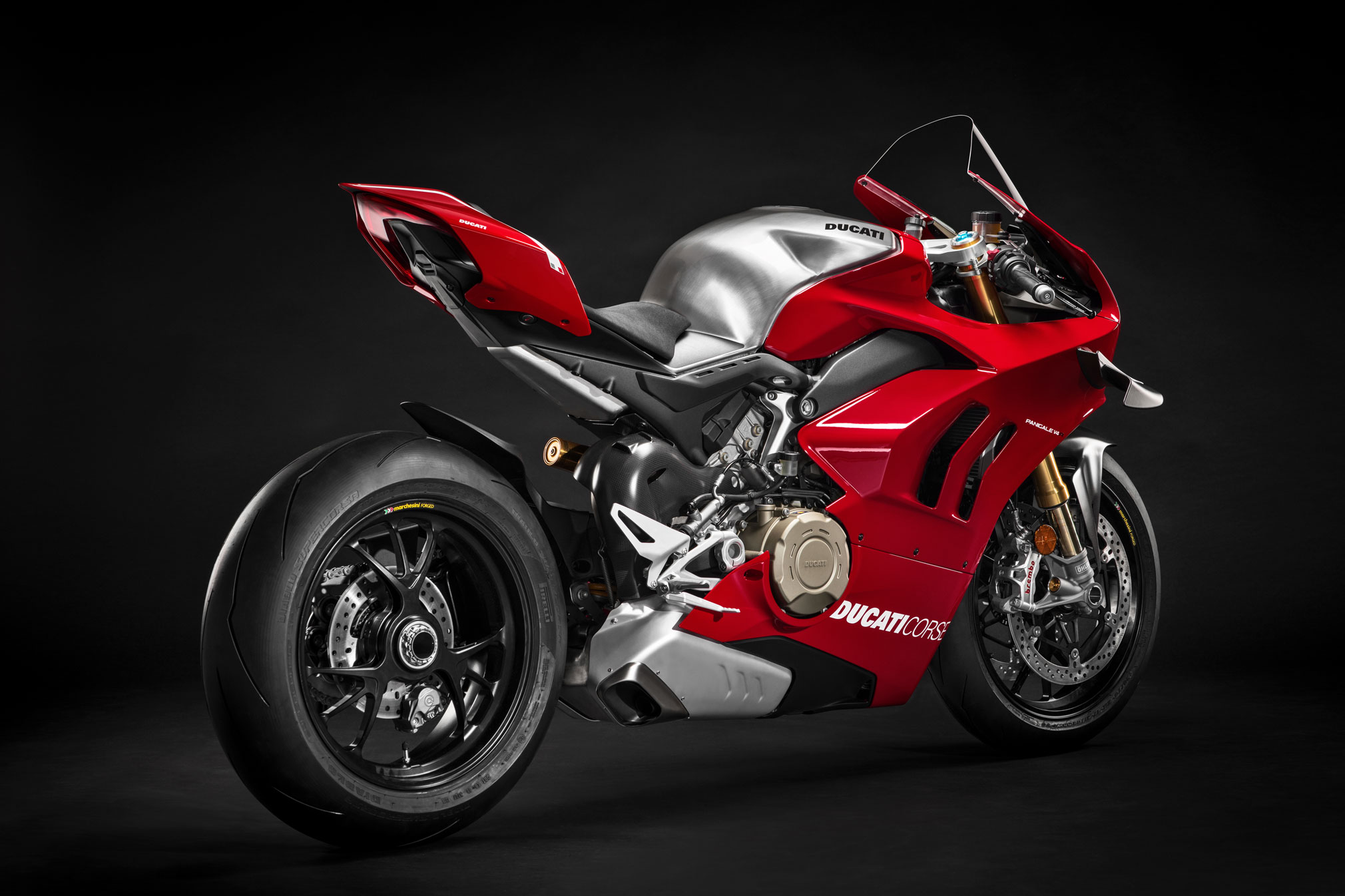 V4S 2018 2019 Carbon Fiber Tank with Air Vents Cover for Ducati Panigale V4