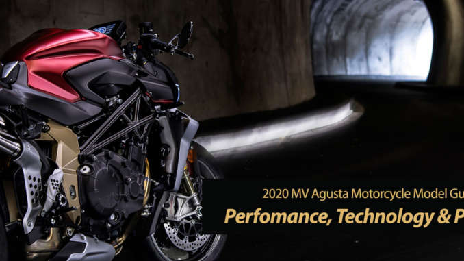 2020 MV Agusta: Perfomance and Technology With No Compromise