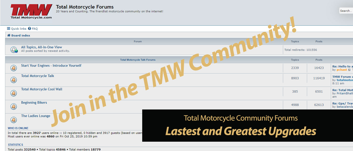Total Motorcycle Community Forums Upgrade