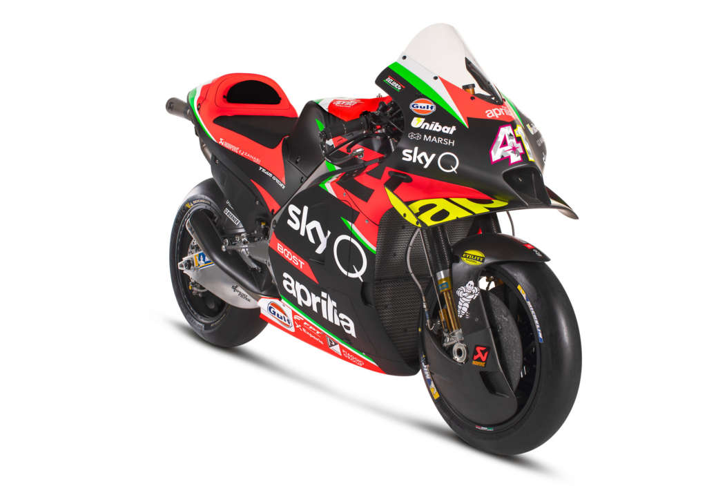 New 2020 Aprilia RS-GP MotoGP Bike Launched with V90 Engine