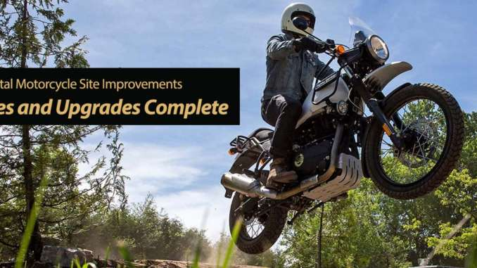 Total Motorcycle Site Improvements Updates and Upgrades Complete