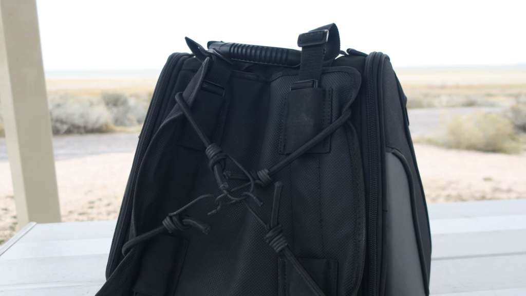 Shown is the underside of the Viking Sport Tail Bag, with the inexplicable pad in full frame.