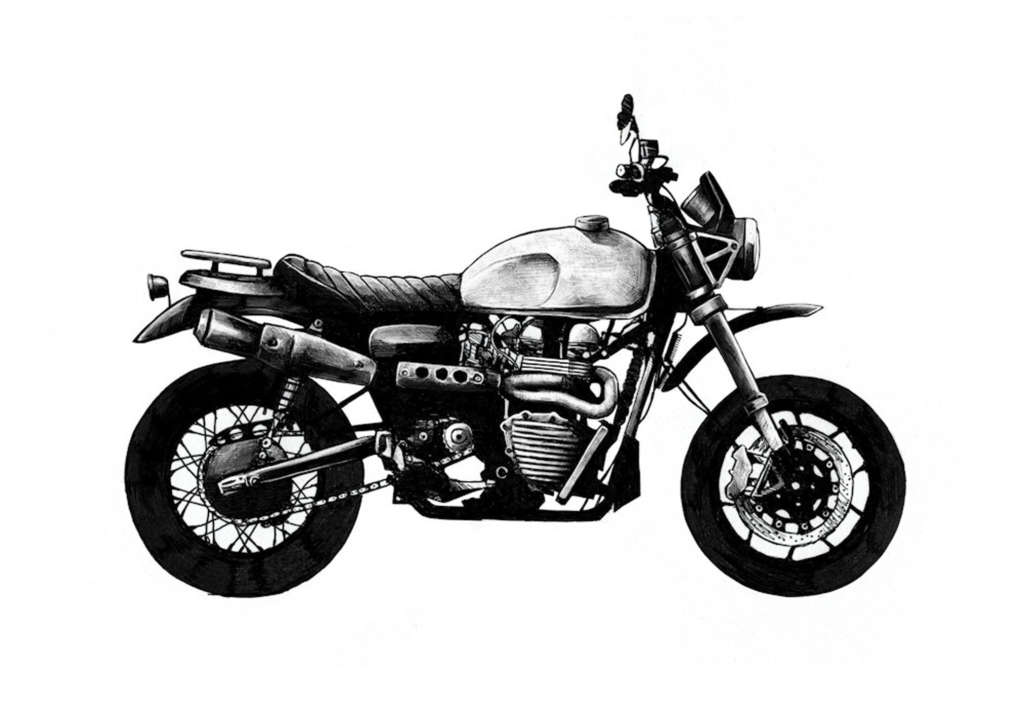 Scrambler The big twin or single cylinder classic, fashioned into a highly capable off-road machine.